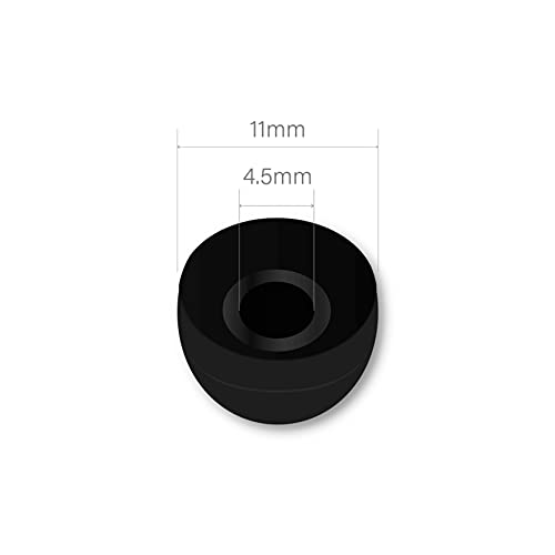 Earbudz 10 Pairs Medium Silicone Replacement Earbud Ear Buds Tips – Black