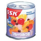 SSK 甘さひかえめフルーツみつ豆1缶 195g×24缶(1ケース)
