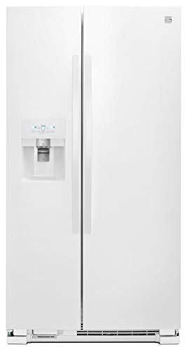Kenmore 36' Side-by-Side Refrigerator with Ice System and 25 Cubic Ft. Total Capacity, White