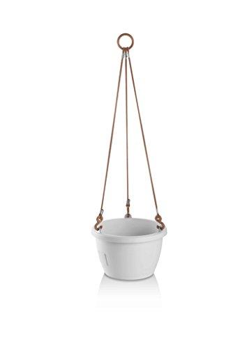 Erhard-Trading Marina Pot à fleurs suspendu auto-arrosage Blanc 20 cm