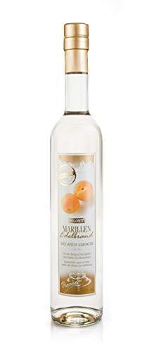 DOLOMITI Marillen Edelbrand 40% vol. | Marillenbrand | Obstbrand aus fruchtigen Marillen | 1 x 0,5 Liter