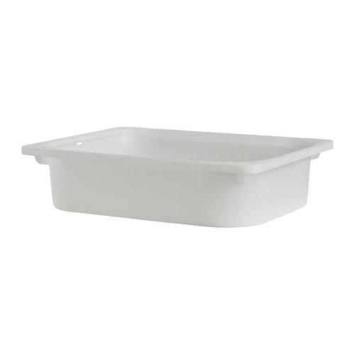 Ikea TroFAST - Caja de almacenamiento para niños (42-30-10 cm, 3 unidades), color blanco