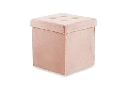 Galileo Casa 2194630 Zitzak fluweel roze poeder 37,5 x 37,5 x 38