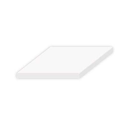 6 Meter DIWARO Kunststoff Flachleiste weiß selbstklebend, Breite 25 mm, Dicke 2,5 mm. Für Fensteranschluss, Abdeckleiste, Fensterleiste und Mauerwerksanschluss.