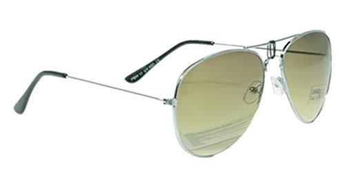 Unbekannt Sonnenbrille in verschiedenen Farbe (One size, Silberer Rahmen/Farngrün Gläser)