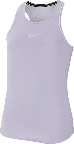 Nike - Canotta da Ragazza Nkct Dry, Bambina, Canotta da Ragazza, AR2501, Ossigeno Viola/Bianco/Bianco/Bianco, XS