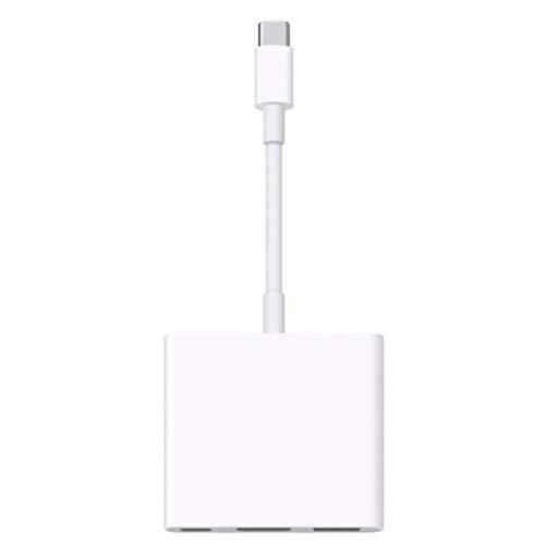 BiaBai Exquisitamente diseñado duradero para Apple USB-C Adaptador multipuerto AV digital USB-C Accesorios digitales Blanco