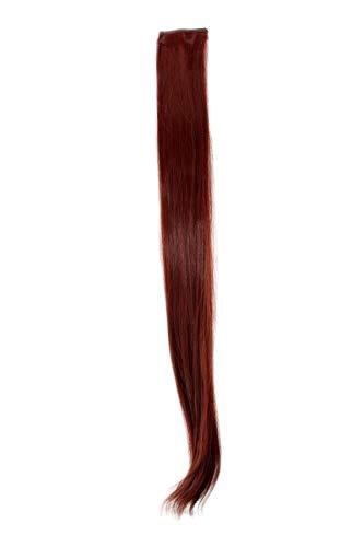 2 Clips Extension avec mèches lisses, rouge YZF-P2S25-35 63cm/ 25inch Extension capillaire postiche Teinte: 35