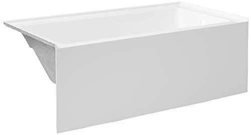 Kingston Brass VTAP603222R Aqua Eden 60-Inch Acrylic Alcove Tub with Right Hand Drain Hole, (L) x 32' (W) x 21-5/8' (D), White