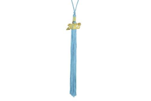 Graduation Tassel with 2008 Year Charm (Light Blue)
