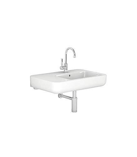 Pozzi Ginori - Asymmetrisches Waschbecken Easy.02, links 80 cm, weiß - 80 cm, weiß