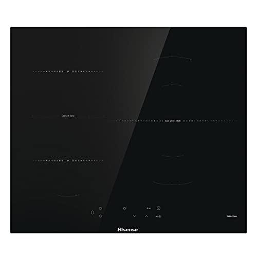 Hisense E6322C - Placa Vitrocerámica, 3 zonas, 1 con Foco Gigante 30 cm, Triple Corona, Encimera de 60 cm, Bloqueo Infantil, Resistente a los Arañazos, Terminación biselada