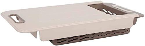 BLLXMX Tabla de Cortar Tableros de Corte de plástico multifuncionales for la Cocina, Gran tajadera práctica con colador, Ideal for Autocaravana Cocinero al Aire Libre Tabla de Cortar de Cocina
