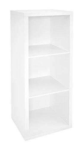 ClosetMaid 1107 Decorative 3-Cube Storage Organizer, White