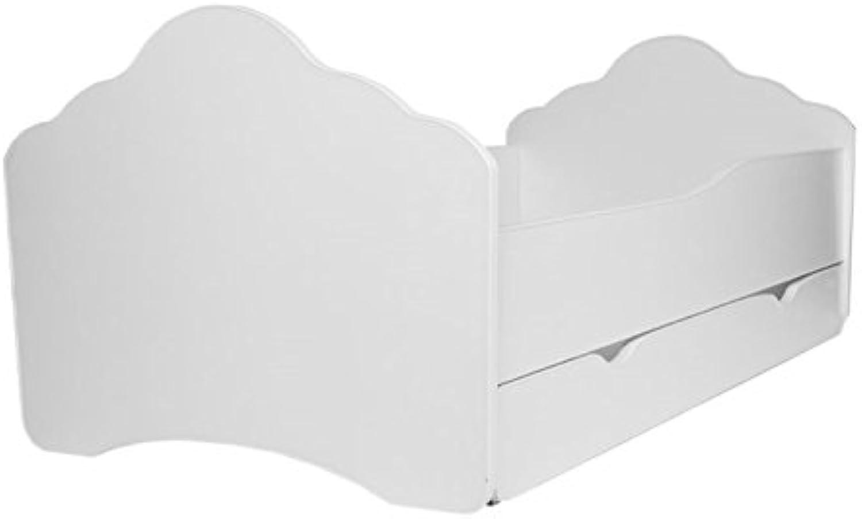 Nuevos productos de artículos novedosos. Cama blancoa para Niños con colchón y cajón, tamaño tamaño tamaño de 140 cm x 70 cm  descuento online