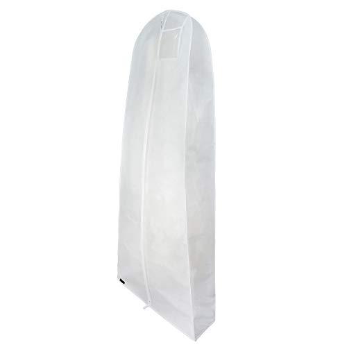 HANGERWORLD White 72inch Breathable Multiple Garment Wedding Gown Dress Garment Cover Protector Bag