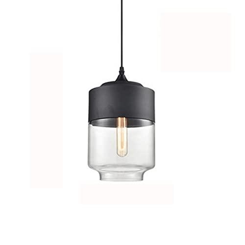 Moderno Art Deco Colgante Luz de luz Borrar cúpula de vidrio Lámpara de metal negro Techo Colgando Drop Light Nordic Chandelier para la sala de estar Cocina Isla Hallway Loft Bar Coffee Shop Club [Cla