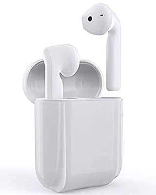 Wireless Headphones, Bluetooth 5.0 Earbuds Hi-Fi Stereo Eardphones in-Ear CVC8.0 Noise Cancelling Headphones with Charging Case, Built-in Mic, IPX5 Waterproof, 30Hrs Playtime from Racokky