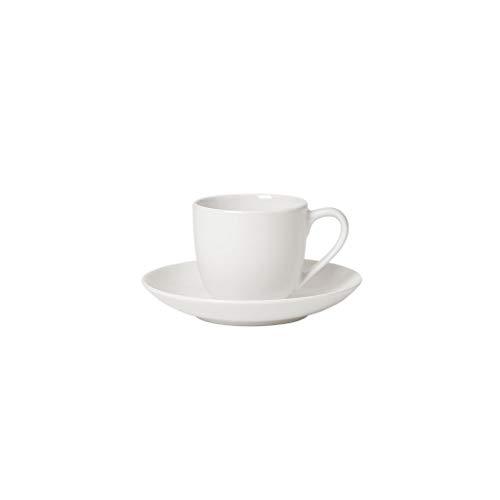 Villeroy und Boch - For Me Espresso-Set, 4 tlg., das Allround-Talent, Premium Porzellan, spülmaschinen-, mikrowellengeeignet, weiß
