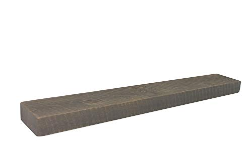 "Joel's Antiques, Floating Mantel, Shelf, Mountable, Rustic, Solid Wood, Pine, Weathered Wood, Gray, (3"" x 7"" x 42"")"