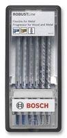 Bosch 2 607 010 573 - Juego de 6 hojas de sierra de calar Robust Line Metal...