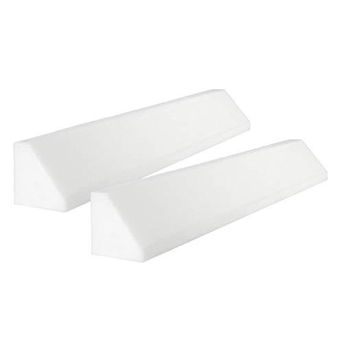 Pekitas Barrière de protection en mousse pour lit pour bébés, enfants, fabriquée en Espagne Barrera 120cm,Pack 2 Uds blanc