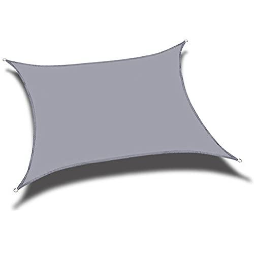 QINZC Toldo Vela De Sombra Cuadrado 3x3m Toldo Vela Parasol Impermeables Exterior ProteccióN Rayos UV Transpirable para JardíN Patio Terraza BalcóN,Gris