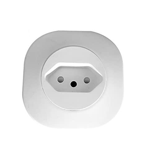 Brasil WiFi Enchufe Inteligente 16A Temporizador de Enchufe Inteligente Monitoreo de energía Control de Voz Blanco Tipo de Brasil70 * 70 * 72MM