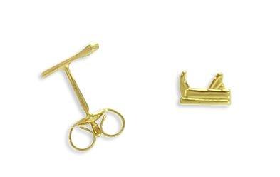 Ohrstecker per Stück echt 14 Karat Gold 585 Hobel (Art 602025/811119)