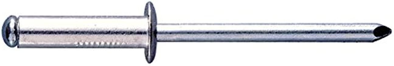 Blindnieten 6,4x22 Alu//Stahl Flachkopf Standard Nieten 200 Stk