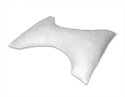 Flex Butterfly Pillow, Polyester, Blanco, 45x70