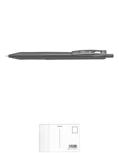 ゼブラ サラサ R 0.5mm 黒 黒軸 ゲルインクボールペン JJ29-R1-BK1 + 画材屋ドットコム ポストカードA