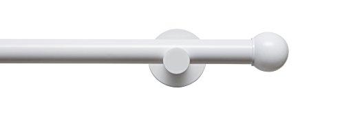 Tilldekor Gardinenstange HIGH-LINE FORMENTOR, weiß-glanz, Ø 20 mm,1-Lauf, 160 cm, inkl. Trägern und Endstücken