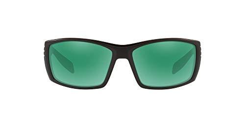 Native Eyewear Raghorn Polarized Sunglasses, Matte Black/Green Reflex, 61 mm
