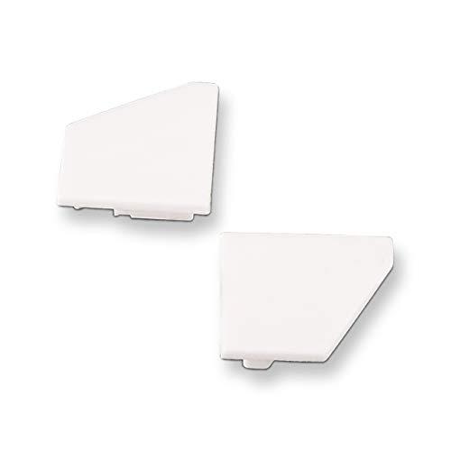Endkappenset für SO-TECH® Led Eck - Profil-66 weiß (1 x links / 1 x rechts)