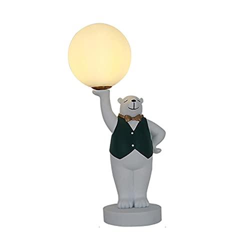 lámpara de mesita Lámpara de mesa con forma de animal creativa Lámpara de escritorio regulable para sala de estar Dormitorio Dormitorio Casa de noche Nightstand Home Office Familia Luz Nocturna
