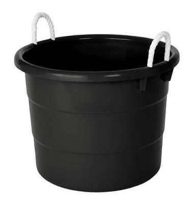 Cartener Storage Tub with Rope Handles 18 Gal Black