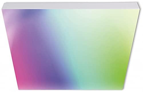 tint Müller-Licht Aris - Panel LED inteligente sin marco y cuadrado (60 x 60 cm, luz blanca y color), luz directa e indirecta, 2000 lm, Zigbee, incluye mando a distancia