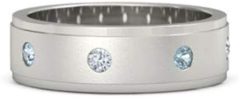 Addamas Verlobungsring für Herren, 0,40 kt echter Diamant, 950 Platin