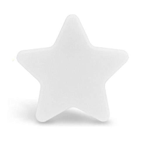 Baby Nachtlampje Bedlampje Ster Kinderen Plug Lamp Led Batterij-Aangedreven Draadloze Nachtlampje Mini Baby Slapen Licht white