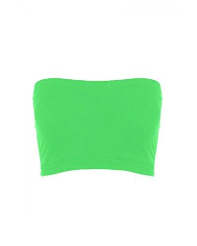 Sugar Lips Seamless Crop Tube Top-Neon Green