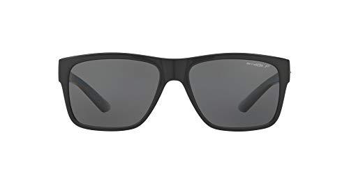 Arnette Men's AN4226 Reserve Square Sunglasses, Black/Polarized Grey, 57 mm