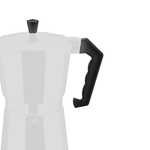 EUROXANTY Recambio para cafetera | Mango resistente al calor | Kit recambio de cafetera | Con tornillos | Mango universal | Fácil de instalar | 3 tazas