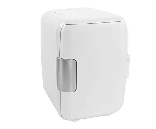 MALATEC Mini Kühlschrank & Warmhaltebox 4 Liter Kühlbox 12V + 220V Weiß/Schwarz 5794, Farbe:Weiß