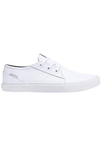 Volcom Zapatos de cuero Lo Fi, Color: WHITE, Size: 44 EU (10.5 US / 9,5 UK)