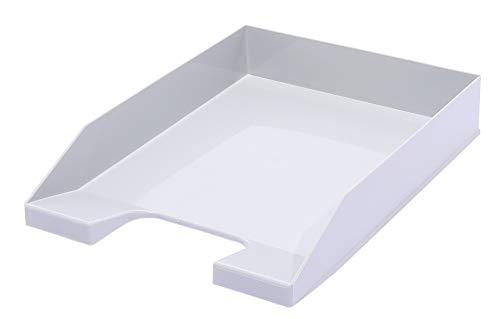 Briefablage A4, stapelbar, Farbe: Grau, 4 Stück