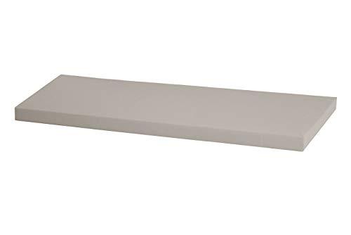 Kallax Regal Sitzauflage 111 x 39 x 4 cm Sitzpolster Sitzbank-Auflage Sitzkissen/Auflage für Sideboard als Sitzbank/unempfindlicher Bezug/Farbe HELLGRAU GRAU