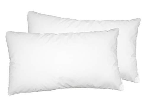 Moon Luxury Perkal 2er Pack Füllkissen 30x50 cm Innenkissen Sofakissen 100% Baumwolle fest gefüllt