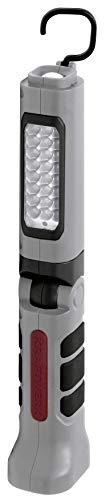 Kraftwerk 32070 Akku-Handlampe 3.7 V 24+5 LED Li-Ion, rot