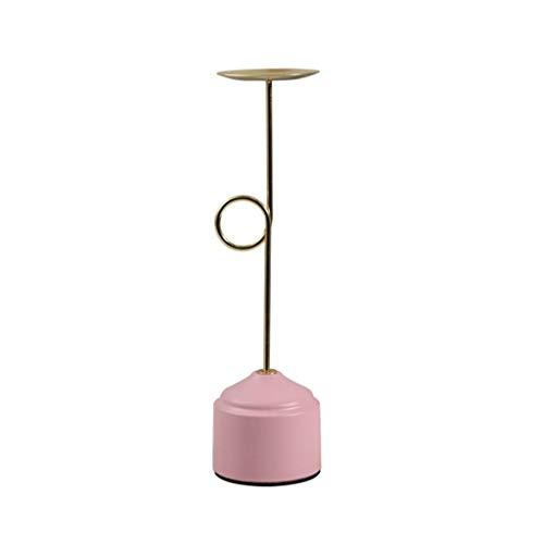 Kandelaars Scandinavische Kandelaar Geometrisch Smeedijzer Roze Tafeldecoraties Kaarslicht Bruiloft Diner Prop Decor Kandelaarhouders (Maat: A)